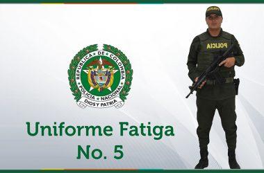 uniforme fatiga No. 5