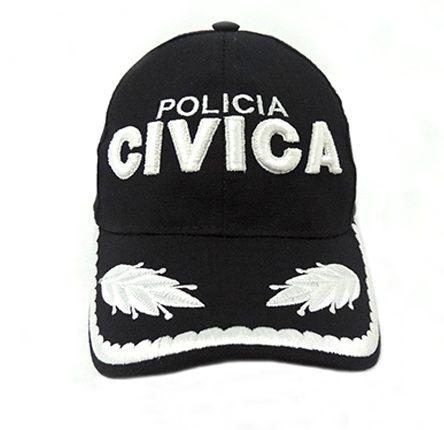 Gorra beisbolera para policía Cívica de oficial superior