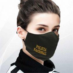 Tapabocas Policia Nacional sin escudo